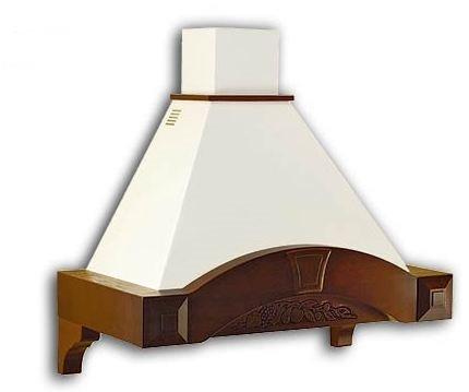 K-DESIGN - Cappa classica cucina RUSTICA LEGNO 90 completa di motore ...
