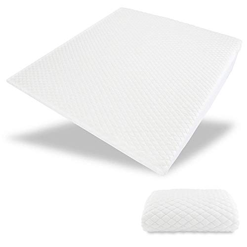 Acid Reflux Cooling Wedge Pillow - USA Made with Memory Foam Overlay & Removable Cooling Cover -