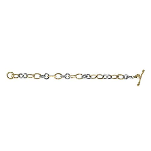 Wax Poetic Large Brass & Silvertone Link Connection Bracelet - Large by Wax Poetic (Image #1)