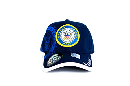Fusion US Navy Licensed Official 3D Embroidered Logo Emblem USA Military Cotton Adjustable Sports Baseball Golf Cap Dad Hat by Fusion