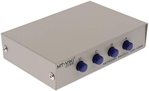 4port A B Caja de Interruptores de Red Manual 4 en 1 Conmutador de Ethernet Rj45: Amazon.es: Industria, empresas y ciencia