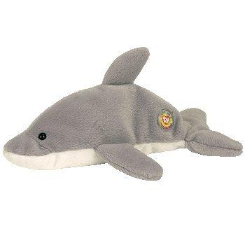 Amazon.com  Ty Flash the dolphin BBOC (Beanie Baby Official Club ... 53d1b46b364