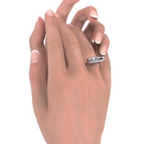 SEXY GASSER Bagues Argent Diamant Noir 0,315