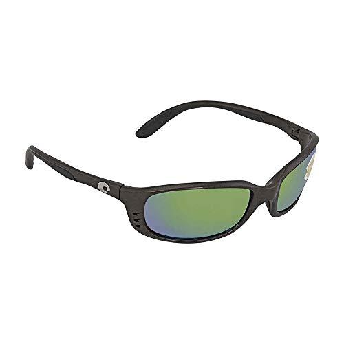 Costa Del Mar Brine Sunglasses, Gunmetal/Green Mirror ()