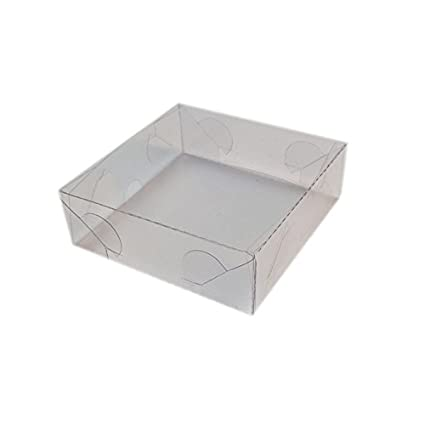 mytorten País Acetato KartonProfis transparente 5 x 5 x 6,5 cm 5 Unidades 8x8x3cm