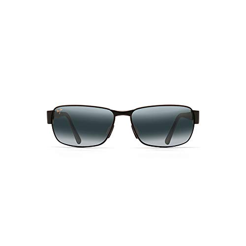 Maui Jim boysgirl's Coral 249-2M | Polarized Matte Black Rectangular Frame Sunglasses, Patented PolarizedPlus2 Lens Technology