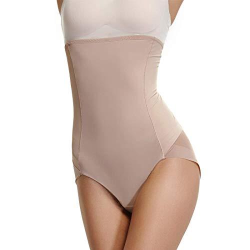 High Waisted Shapewear for Women Tummy Control Body Shaper Seamless Briefs Slimming Underwear (Beige, Medium)
