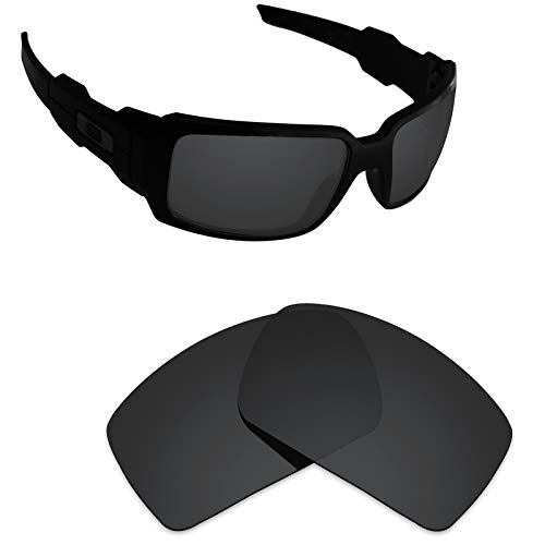 (Alphax Stealth Black Polarized Replacement Lenses for Oakley Oil Drum)