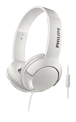 Philips BASS+ with mic SHL3075WT/27 On-ear White