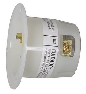 15A 1250V L5-15P White TWIST-LOCKÂ Flanged Inlet