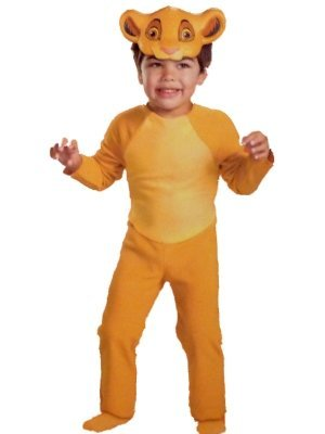 [NEW DISNEY LION KING SIMBA TODDLER COSTUME DRESS UP MEDIUM 3T 4T] (King Toddler Costume)