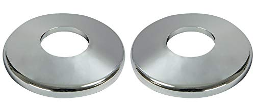 Aqua Select Escutcheon Plate for Pool or Spa Handrail | Chrome Colored Plastic