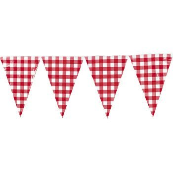 Large Red Gingham Pennant Banner - Party Decorations & Banners ()