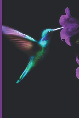 Hummingbird Journal: Nectar from Purple Flowers Cover, with Blank Lined Pages (Nectar The Hummingbird)