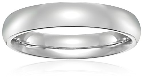 Standard Comfort-Fit Palladium Band, 4mm, Size 5.5 -