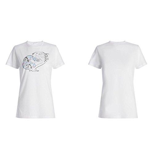 Mode Mädchen Frauen lustige Vintage Kunst Stadt Damen T-shirt yy29f