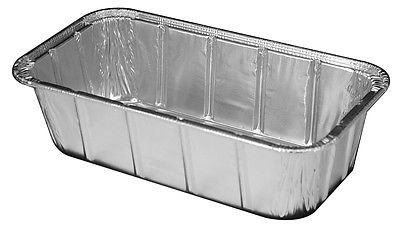 Handi-Foil 1 1/2 lb. Aluminum Foil Loaf Pan 100/Pk - Disposable Bread Baking Tin (Pack of 100)
