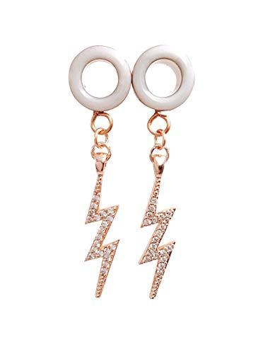 4g 9//16 Handmade Gold Sparkle Plugs 00g 2g 5//8 inch 6g 1//2 8g body jewelry 0g