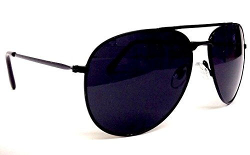 Black Pilot Aviator Sunglasses Dark Lenses - shadyglasses.us