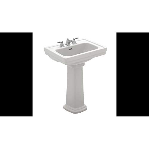 White Pedestal Sink - TOTO LPT532.8N#01 Promenade Lavatory and Pedestal with 8-Inch Centers, Cotton White, Deep Bowl