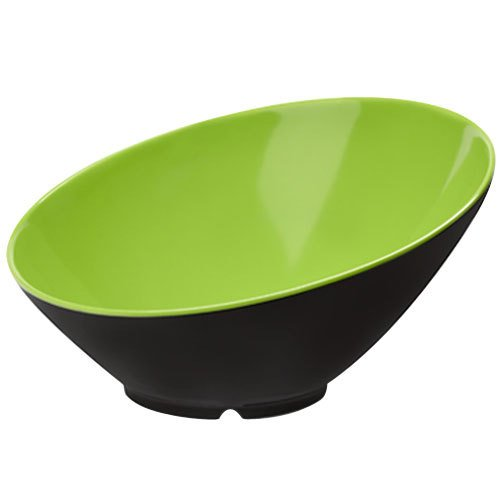 Melamine GET Enterprises B-790-G//BK Green//Black 1.9 Qt G.E.T Cascading Bowl Brasilia