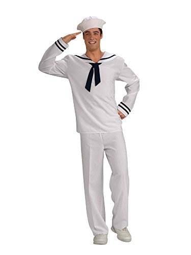 Forum Novelties Men's Anchors Aweigh Sailor Costume, White/Blue, Standard -