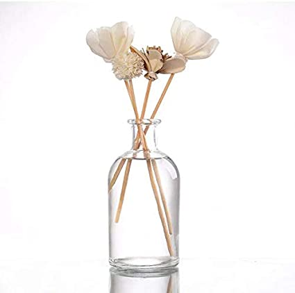 casa-vetro - Juego de 6 o 12 jarrones pequeños para decoración de mesas y Bodas (12 Unidades)