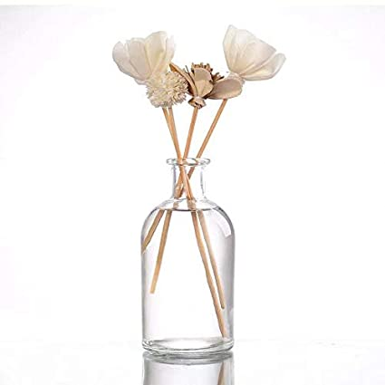 12 pcs casa-vetro 6 or 12 Pack Small Vase Flowers Table Glass Bottle Set//Wedding Party Decoration Clear White