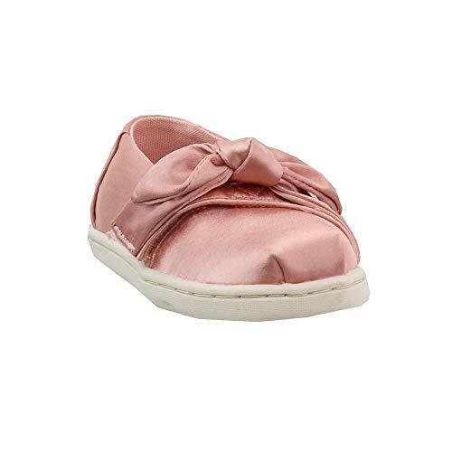 TOMS Kids Baby Girl's Alpargata (Infant/Toddler/Little Kid) Rose Cloud Satin/Bow 11 Little Kid