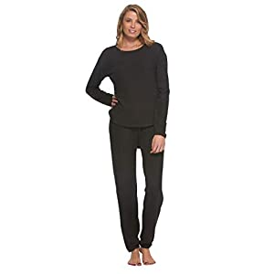 Felina | Comfyz Coco Women's 2-Piece Lounge Set | Brushed Jersey LS Top & Jogger