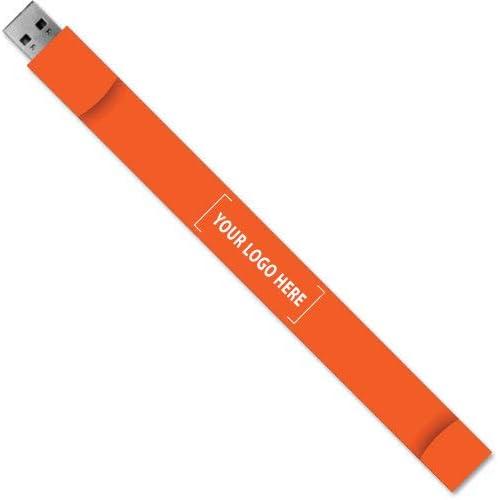 リストバンドUSBフラッシュドライブ 64MB 2552-Orange-50