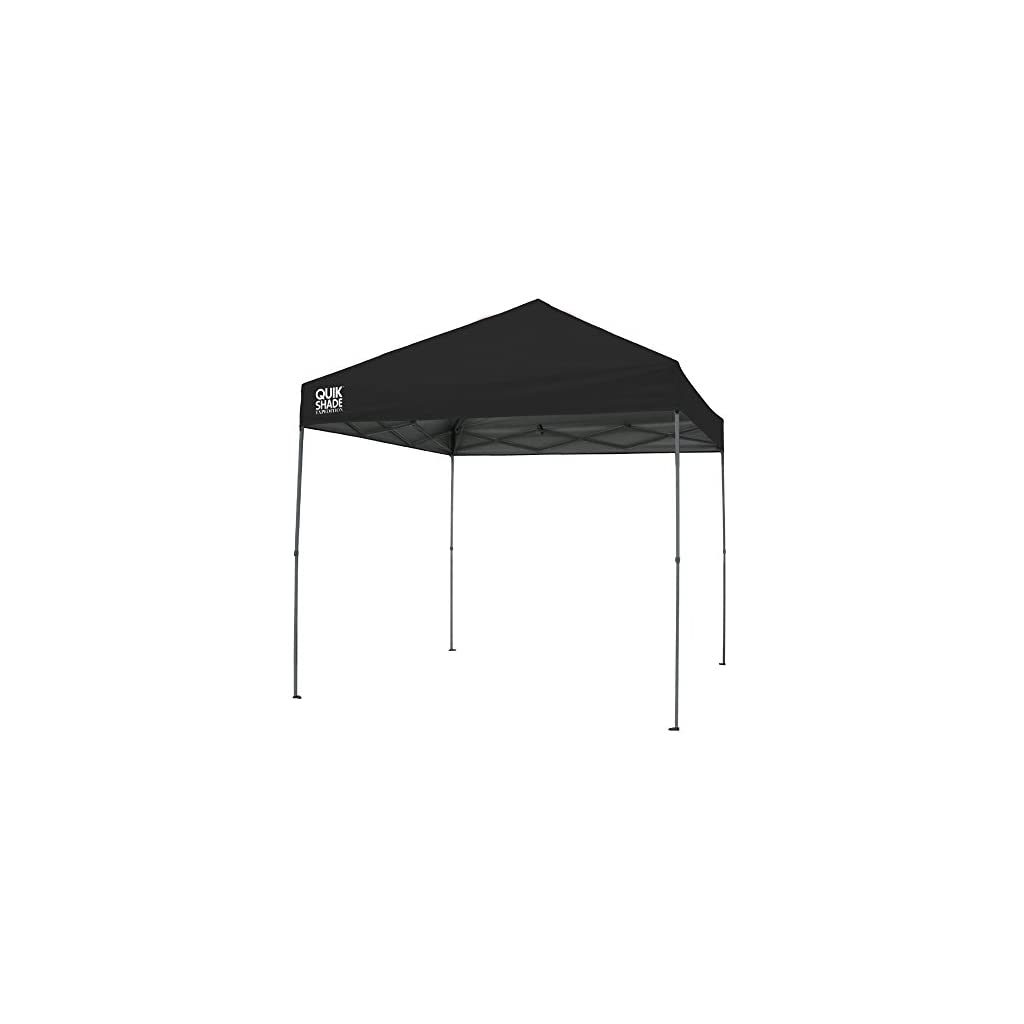 Quik Shade Expedition 10 x 10-Foot Instant Canopy, Straight Leg Outdoor Tent, 100 Square Feet of Shade for 8-12 People – Black