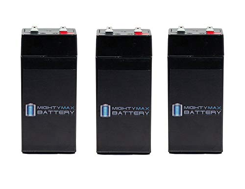 - 4 Volt 4.5 Ah Sealed Lead Acid Battery for Fi-Shock SS-440 - 3 Pack - Mighty Max Battery brand product