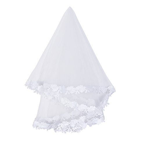 Tinksky 1.5M Bridal Veil Transparent Mesh Bride Veil for Wedding Hairstyle Wedding Favors (White) at Amazon Womens Clothing store: