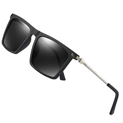 LEIMI Mens Polarized Sunglasses for Men Vintage Rectangular Driving Fishing Sun Glasses UV Protection 8823