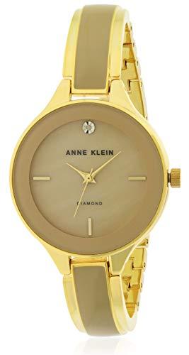 - Anne Klein Classic Brown Dial Stainless Steel Ladies Watch AK2702TNGB