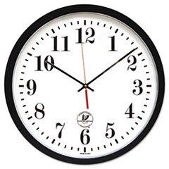 "* Atomic Slimline Contemporary Clock, 16-1/2"", Black"