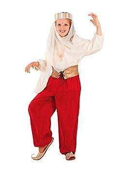 DISBACANAL Disfraz de Princesa árabe roja Infantil - Único, 8 años ...