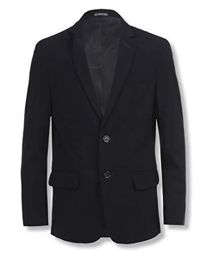 Calvin Klein Big Boys' Bi-Stretch Blazer, Navy, 12 (Best Sports For Boys)