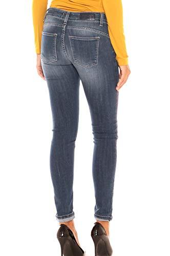 Donna Skinny Jeans Denim In Spruzzature Cotone Di Colore Con apA5wxq1g