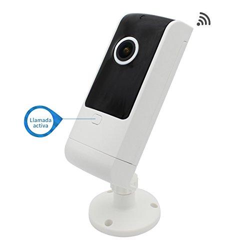 Cámara de Seguridad Vigilancia Espía IP Inalámbrico WiFi Panorámico 180 Grados Vision Nocturna Detección de Movimiento...