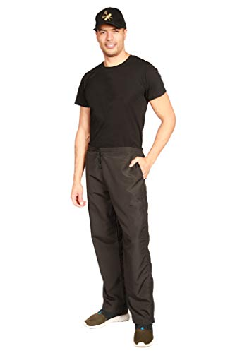 Ladybird Line Professional Unisex Grooming Black Pants Lightweight Ideal for Pet Groomers Hair Repellent and Water Resistant - Size L - Silhouette Flattering