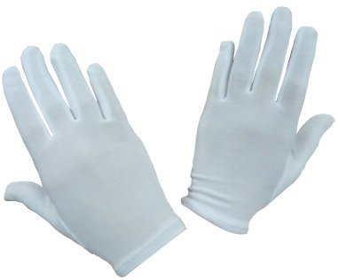 Youth White Satin (N'ice Caps Girls Stretch White Special Occasion Parade Gloves (3-5yrs))