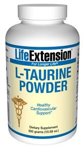 Poudre taurine Life Extension - 300 g - Poudre
