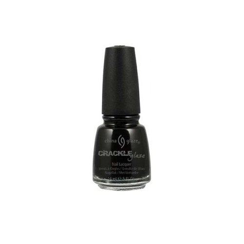 China Glaze Crackle Glaze Nail Polish - Black Mesh - 0.5 oz (Shatter Nail Lacquer)