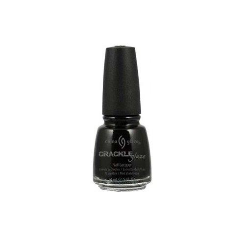 China Glaze Crackle Glaze Nail Polish - Black Mesh - 0.5 oz (How To Crackle Paint)