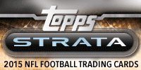 2015 Topps Strata Football Cards Hobby Box (1 pack/box with 2 Auto or Auto Relics) - 12/23 Release Date !