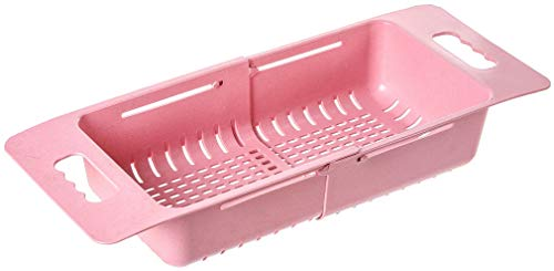 TheTimeBus Kitchen Dish Drainer Rack (Pink) (Dish Drainer Pink Rack)