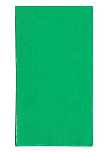 Blue Panda 2-Ply Paper Dinner Napkins – 120-Pack for Everyday Kitchen, Dining, Events, Parties, Green, Unfolded 15.5 x 13 Inches, Folded 7.5 x 4.25 Inches