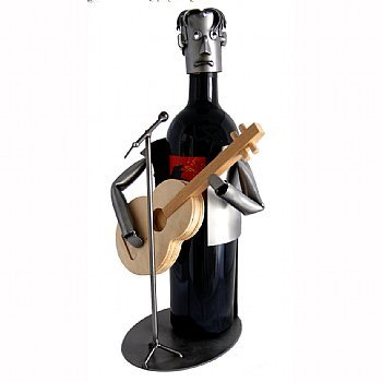 Guitar Player Wine Bottle Holder
